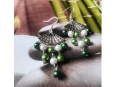 """Boucles d'oreilles """"L'éventail et le bambou"""""""