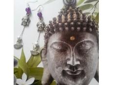 boucles d'oreilles L'éventail et Buddha
