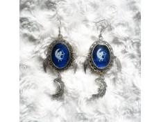 Boucles d'oreilles La lune, la lady et l'ange