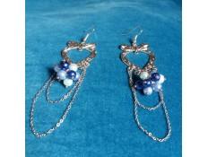 Boucles d'oreilles Plaisir bleuté