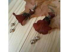 Boucles d'oreilles Fleurs de chocolat