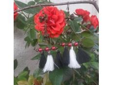boucles d'oreilles La reine des pompons