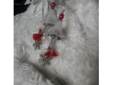 Boucles d'oeilles Fleurs de Noel