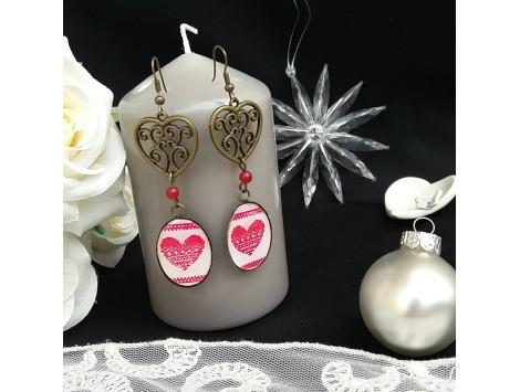 """Boucles d'oreilles """"Coeur de l'hiver"""""""