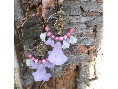 Boucles d'oreilles L'arbre à fleurs