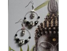Boucles d'oreilles argent Buddha le sage