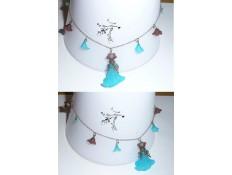 Collier fleurs de glace