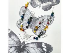 Parure L'arc en ciel de papillons