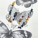 """Parure """"L'arc en ciel de papillons"""""""