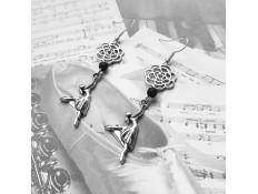 """Boucles d'oreilles """"Une rose pour une danse"""""""