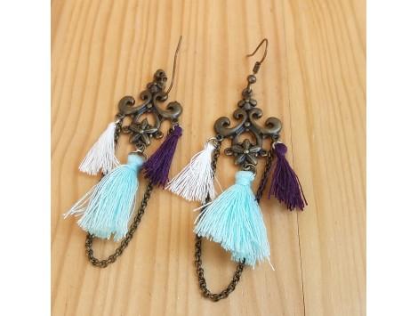 Boucles d'oreilles Pompons royaux