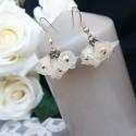 """Boucles d'oreilles """"Le bouquet de la mariée"""""""