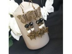 """Boucles d'oreilles """"Les papillons papillonnent"""""""