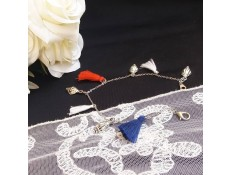 """Bracelet de cheville """"Pompons marins"""""""