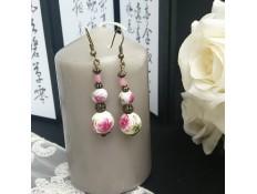 """Boucles d'oreilles """"L'Asie en rose"""""""