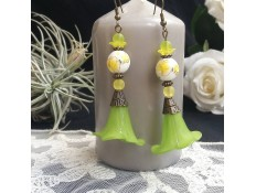 """Boucles d'oreilles """"Vive les fleurs du printemps"""""""