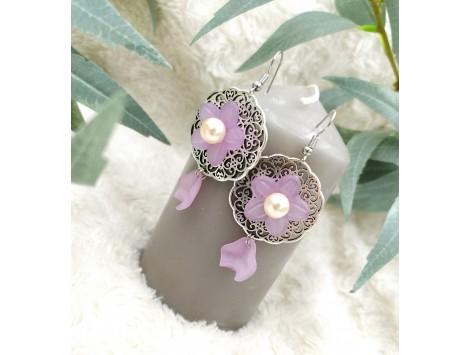 """Boucles d'oreilles """"Douces sont les fleurs"""""""