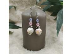 """Boucles d'oreilles """"Douces perles"""""""