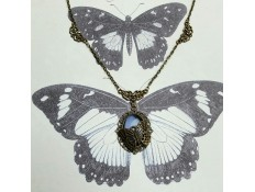 "Collier ""La Lady et le papillon"""