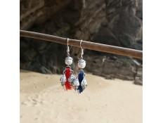 Boucles d'oreilles Les pompons marins