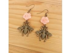 """Boucles d'oreilles """"La reine des abeilles"""""""