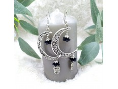 """Boucles d'oreilles """"Fleurs de lune"""""""