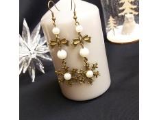 """Boucles d'oreilles """"Les flocons de Noël"""""""